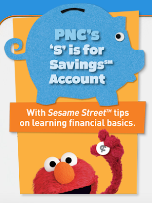 PNC Bank, kids saving account, 'S' is for Savings, S is for Savings