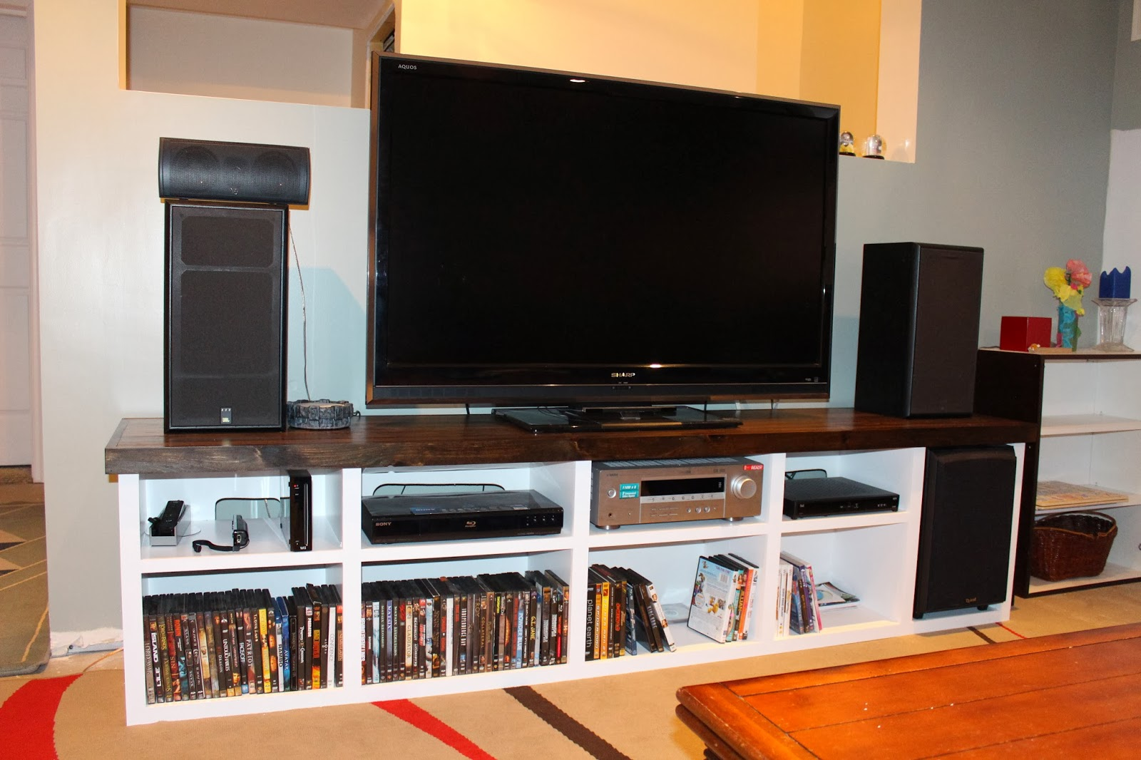bayview creations diy tv console storage unit