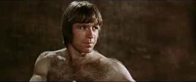 Sexy Chuck Norris hairy chest photo -