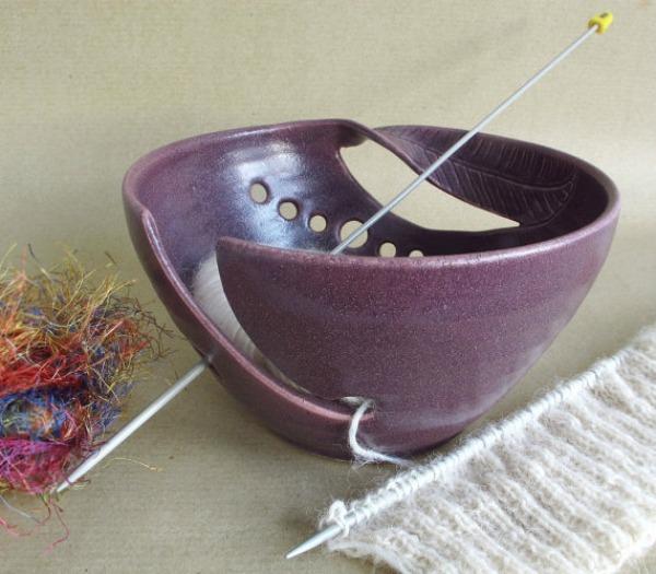 Blue Room Pottery Yarn Bowl