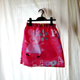 Finished pillowcase skirt