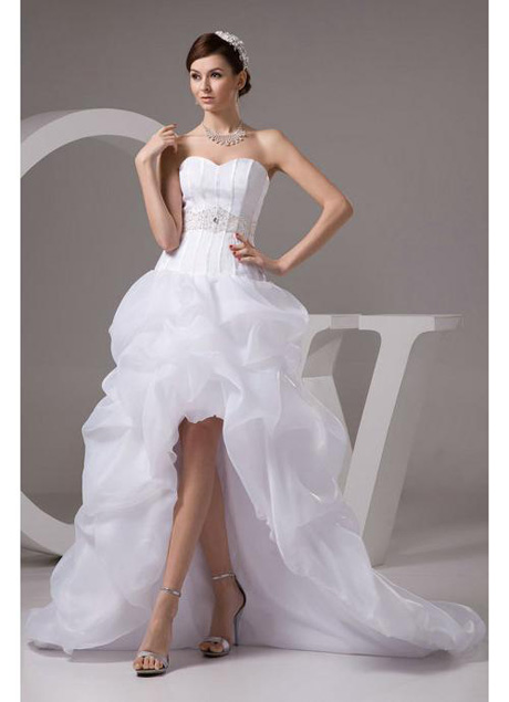 Whiteazalea high low dresses organza sweetheart high low for Wedding dress high low