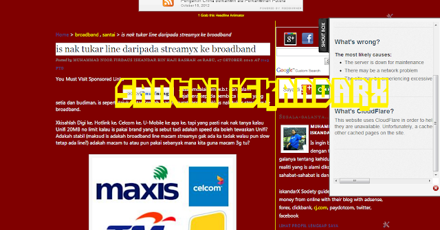 iskandarx.blogspot.com, Busuk Shout Down La Pulak, Santai iskandarX, santai, busuk shout