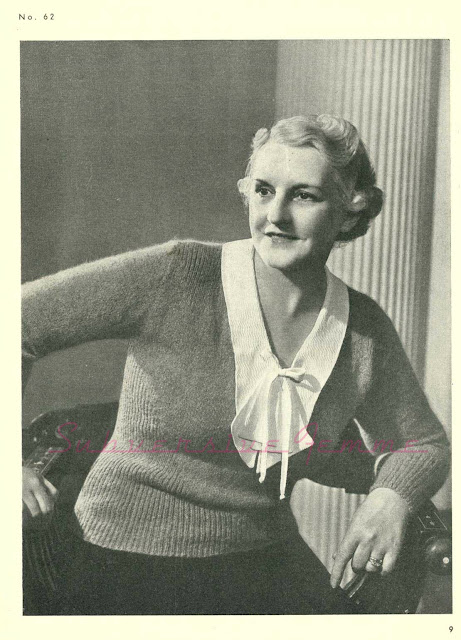 stitchcraft magazine 1930s free vintage knitting pattern plus size xl