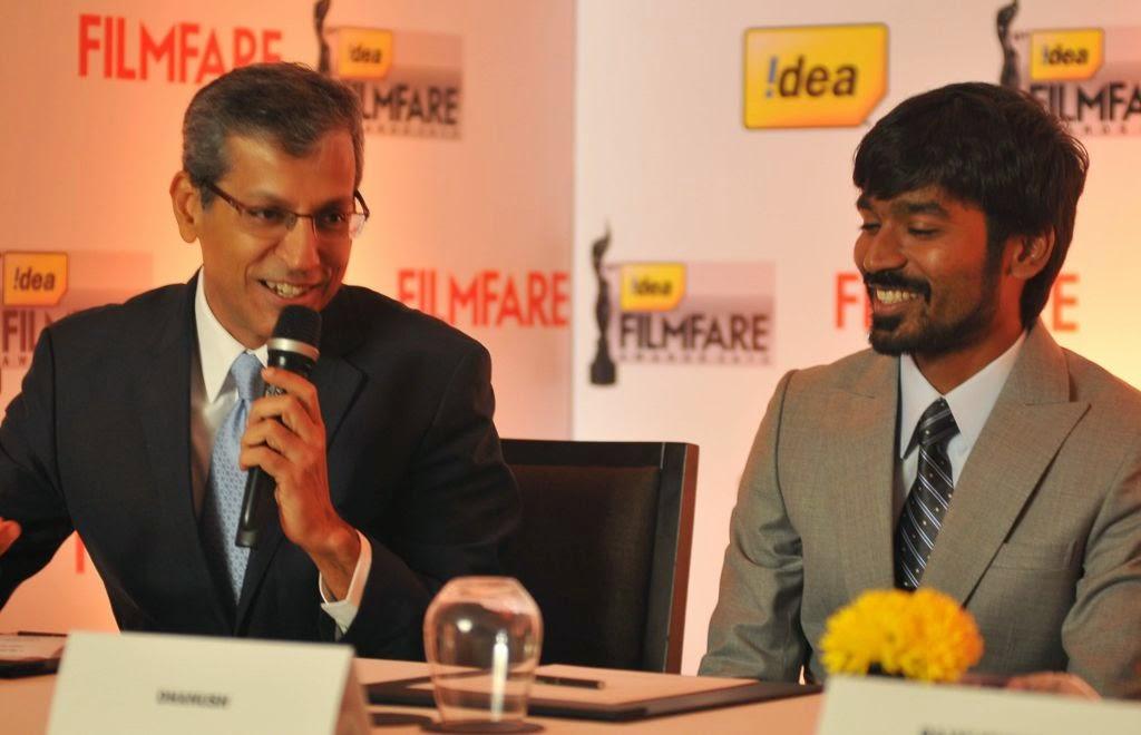 Dhanush at Idea film fare awards-HQ-Photo-10