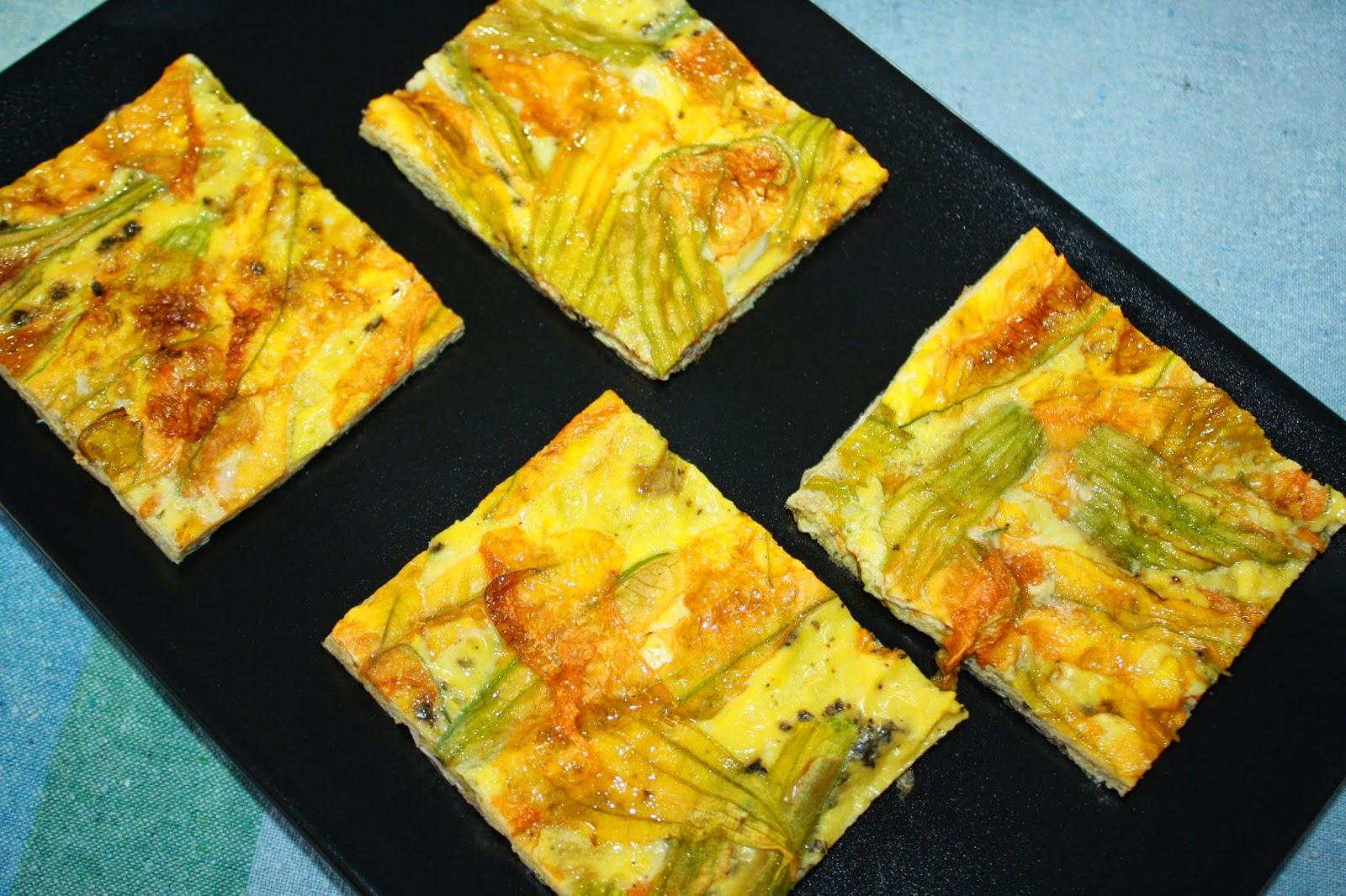 frittata fiori zucca forno