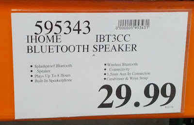 Deal  for the iHome iBT3 Wireless Bluetooth Speaker at Costco