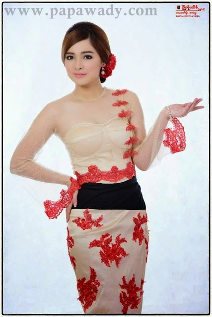 Moe Yu San With Beauty Of Myanmar Dress Fashion Costume