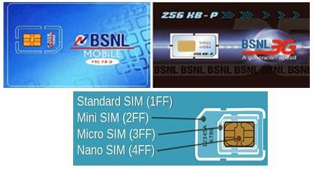 BSNL Mobile SIM Card New/Replacement Charges for 2G/3G Prepaid & Postpaid GSM Services