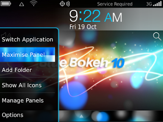 Blue Bokeh 10 Theme for BlackBerry