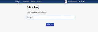 Pilih Add a blog - Input URL Blog
