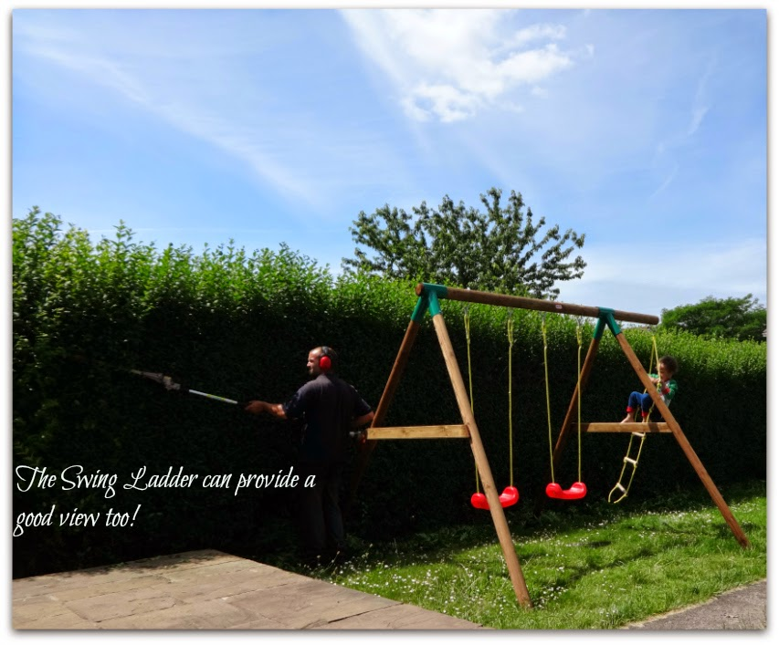 Little Tikes Riga Swing ladder provides a view