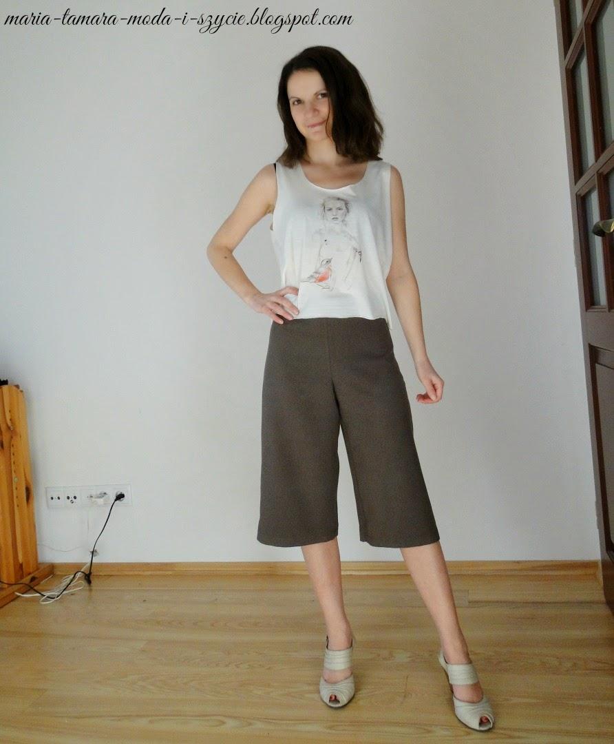 spodnie szerokie nogawki