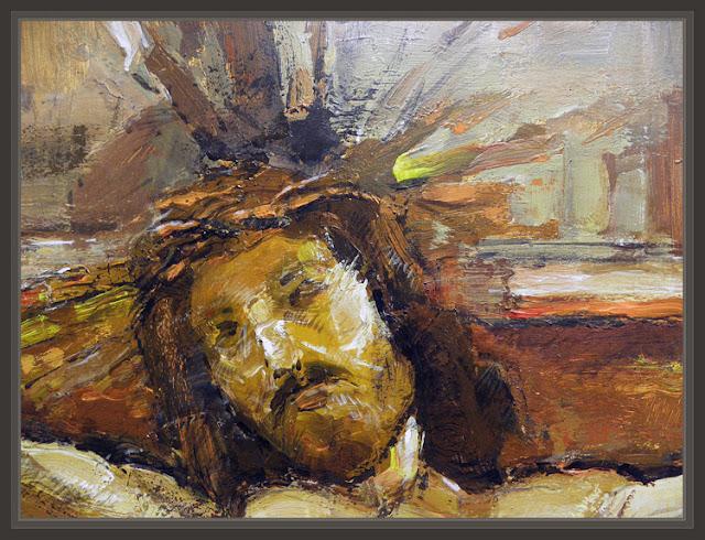 JESUS CRUCIFICADO-SEMANA SANTA-PINTURA RELIGIOSA--CUADROS-RELIGIOSOS-ERNEST DESCALS-
