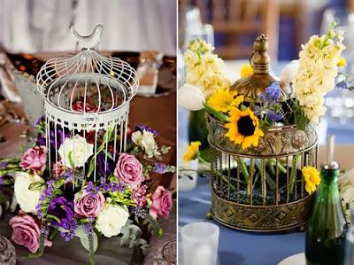 lồng chim vật dụng thường được sử dụng để trang trí tiệc cưới