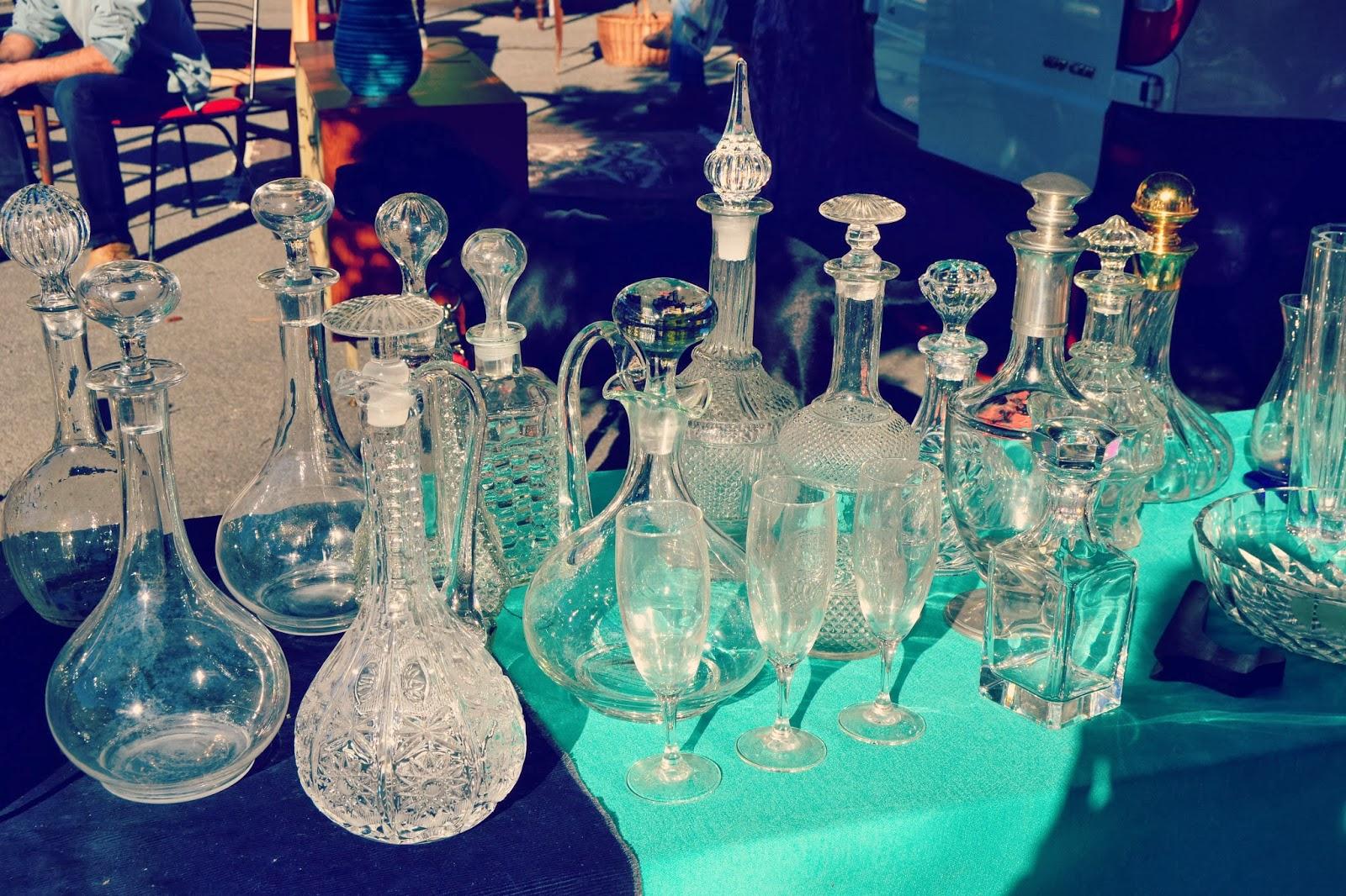 garrafas de cristal