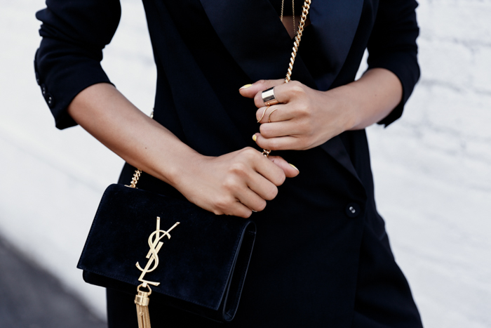 SAINT LAURENT small Monogramme tassel chain bag