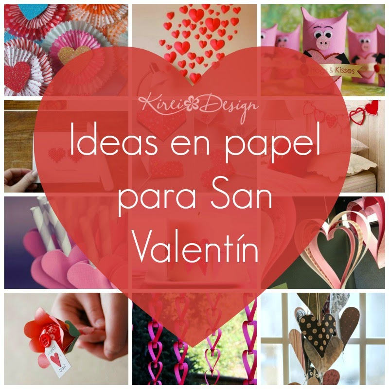 Ideas en papel para san valent n kireidesign for Decoracion para pared san valentin