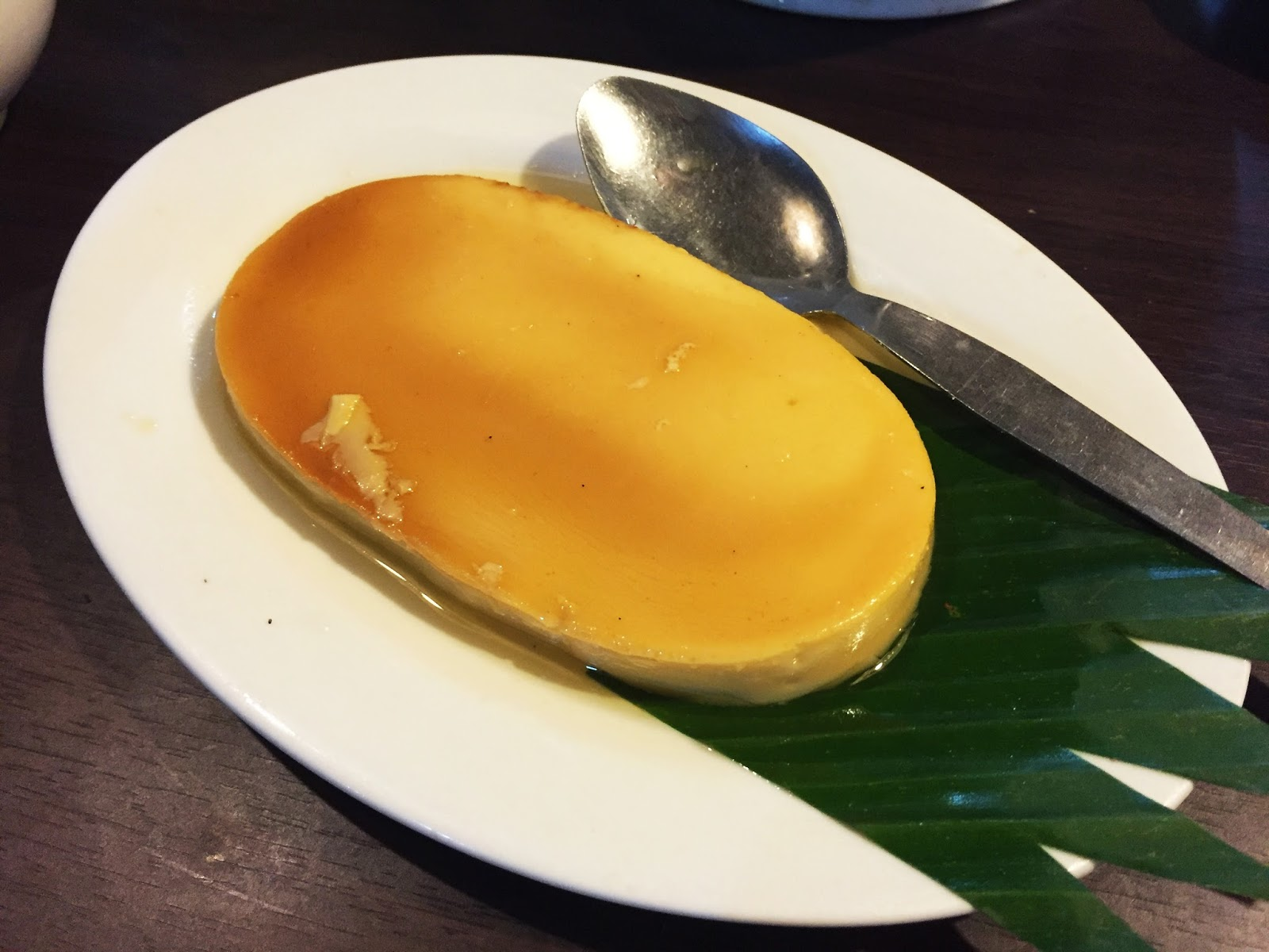 Filipino Food at dampa sa Tarlac Seafood Restaurant: Leche Flan