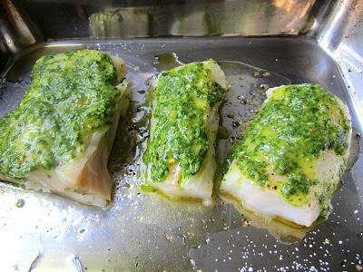 Stacey snacks cod w chimichurri sauce yum for Is cod fish kosher