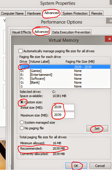 Increase or Decrease the Size of Virtual Memory and Paging File