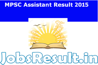 MPSC Assistant Result 2015