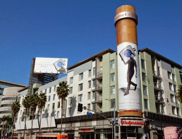 Perry Ellis Cobalt fragrance billboards