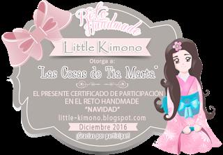 Certificado cumplimiento reto handmade Little Kimono: Navidad