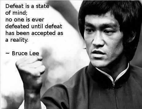 Bruce Lee quote about victory and defeat
