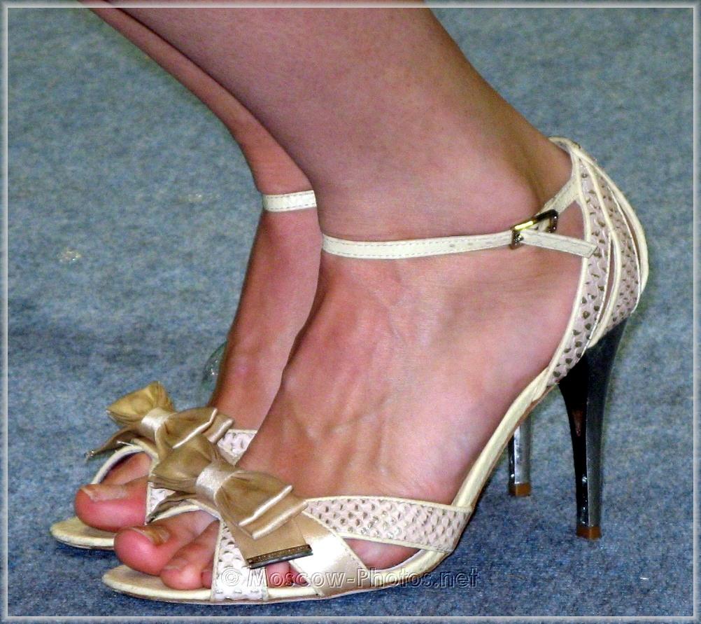 Original silver high heels shoes