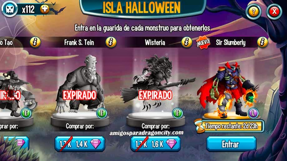 imagen de sir slumberl de la isla halloween de monster legends