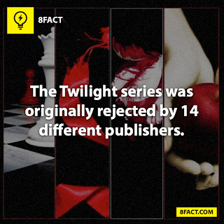 Twilight series facts , The Twilight series was originally rejected by 14 different publishers.
