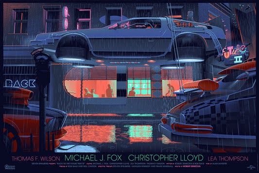 Back to the Future II Screen Print by Laurent Durieux