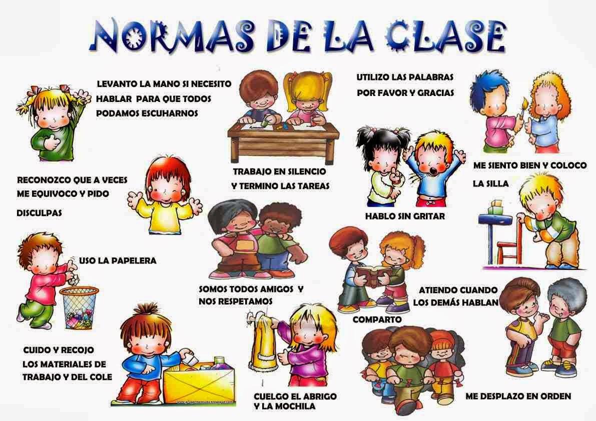 Normas de convivencia en el aula + imágenes para imprimir. - Para