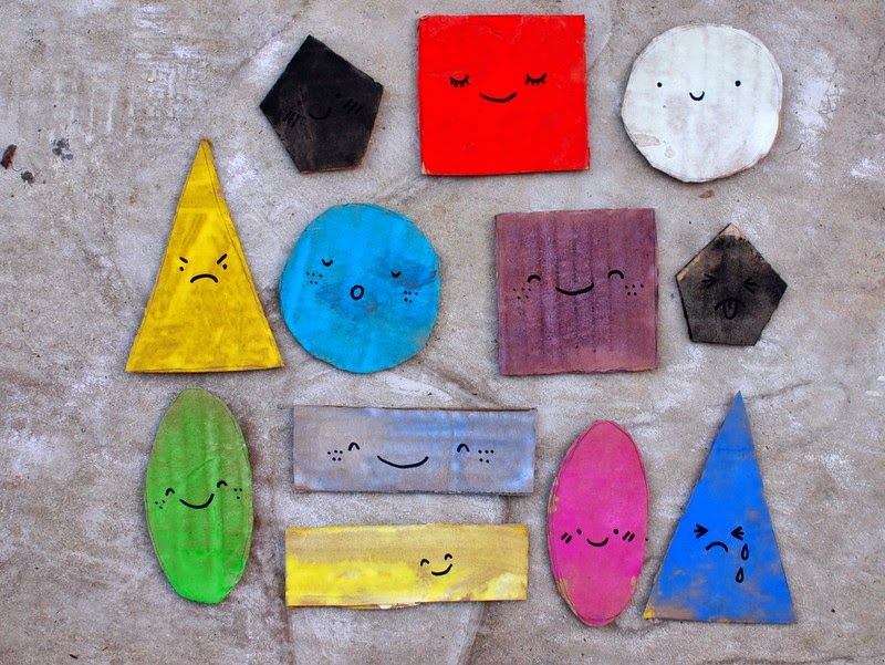 paint your cardboard shapes