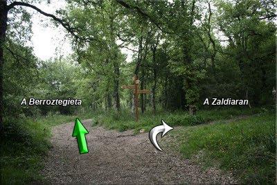 Seguimos el GR dirección Berroztegieta