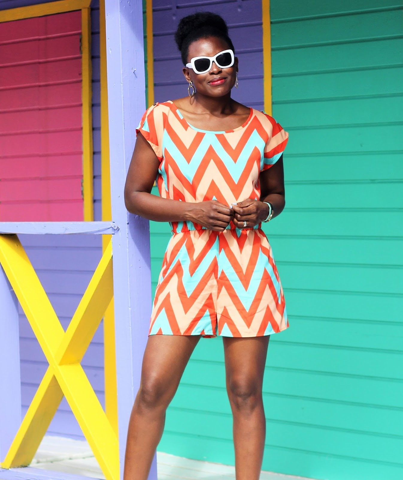 Printed Short Jumpsuit by Lovely Day