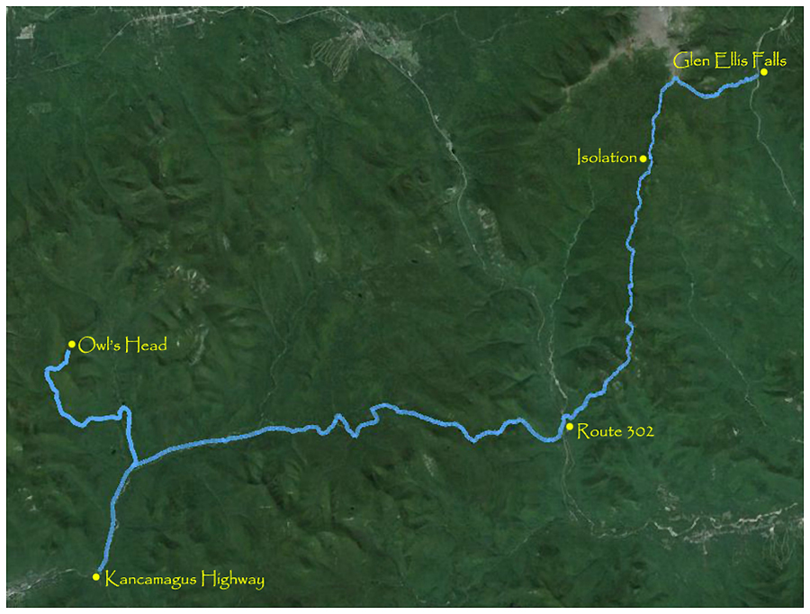 Owl Map Owls Head Trail Maps From