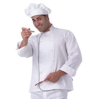 Cocinero para la foto