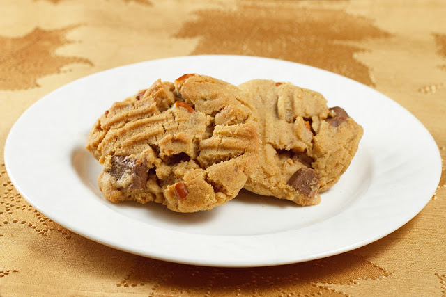 Toffee Pretzel Peanut Butter Cookies from Chef Dennis on KatrinasKitchen