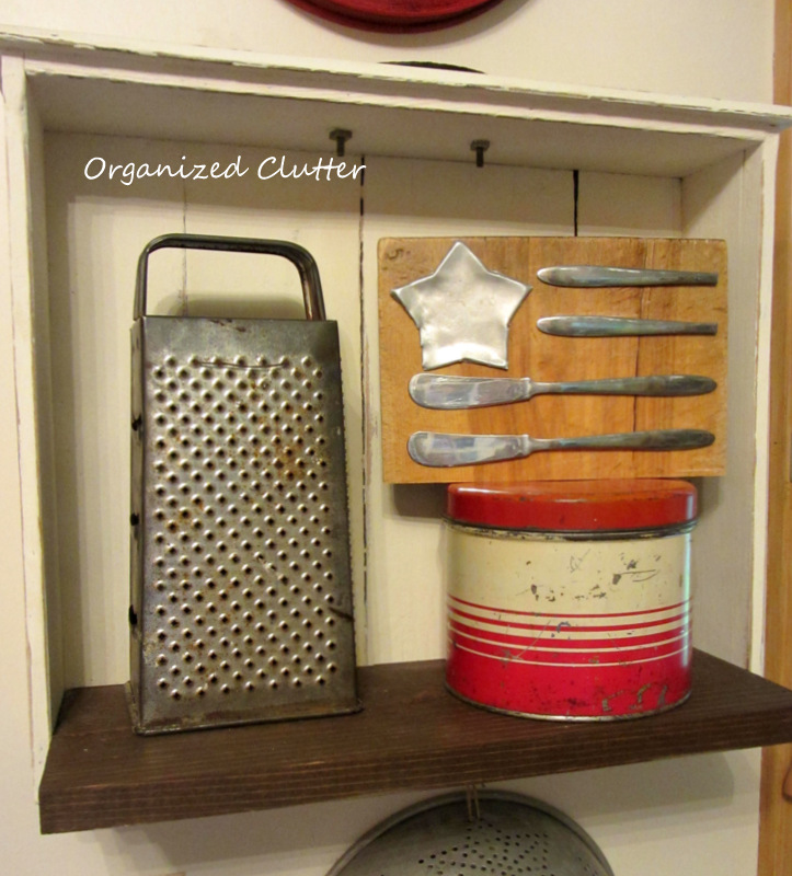 Cutting Board Kitchen Junk Flag www.organizedclutterqueen.blogspot.com