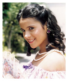 Actriz Monica Sanchez en miniserie La Perricholi 1992