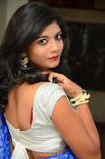 Bindhu latest sizzling saree pics-thumbnail-17
