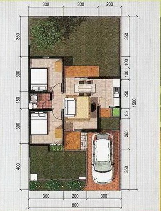 rumahku 1 gambar denah rumah type 45 120