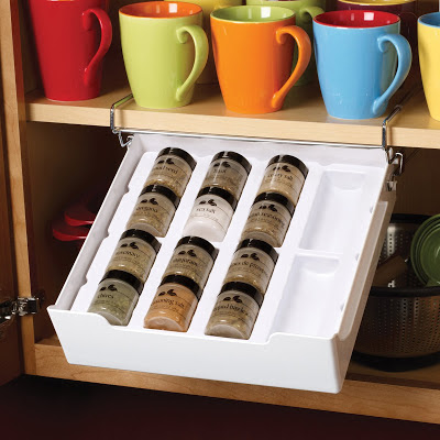 under-shelf spice rack