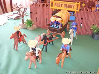 decoracion mesa cumpleaños tematica vaqueros