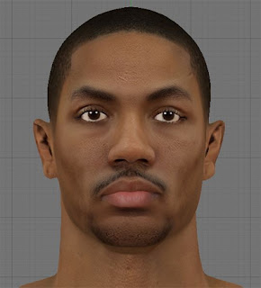 NBA 2K13 Derrick Rose HD Cyber Face Patch