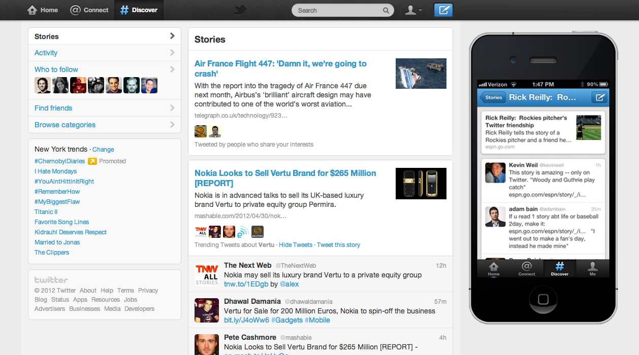 disco final Twitters Discovery Tab Enhanced, More Social Context to Posts Added