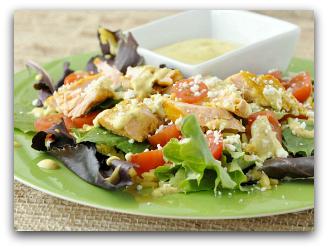 Salmon Chop Chop Taco Salad