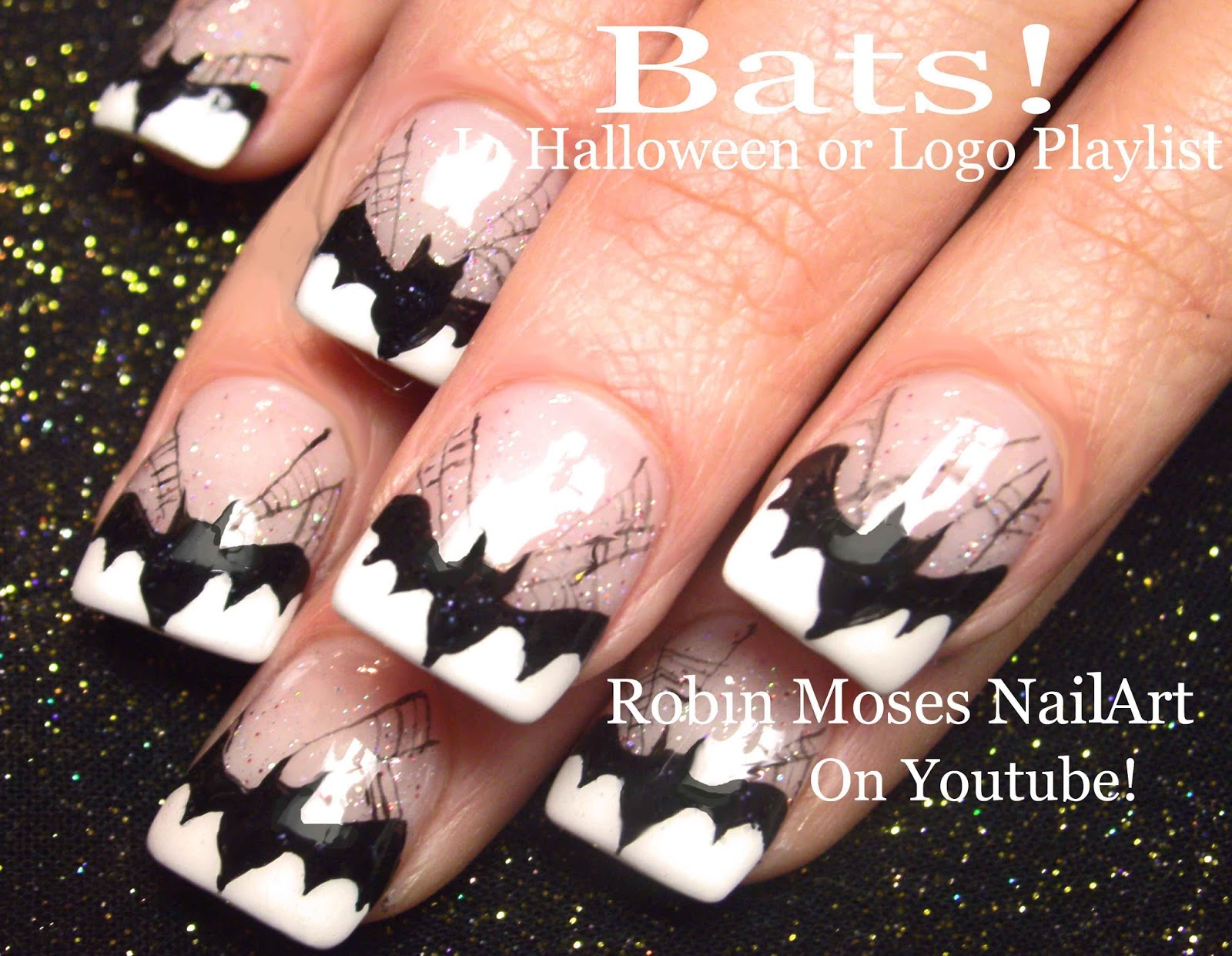 Robin moses nail art spider nails black widow nails spider play now prinsesfo Images